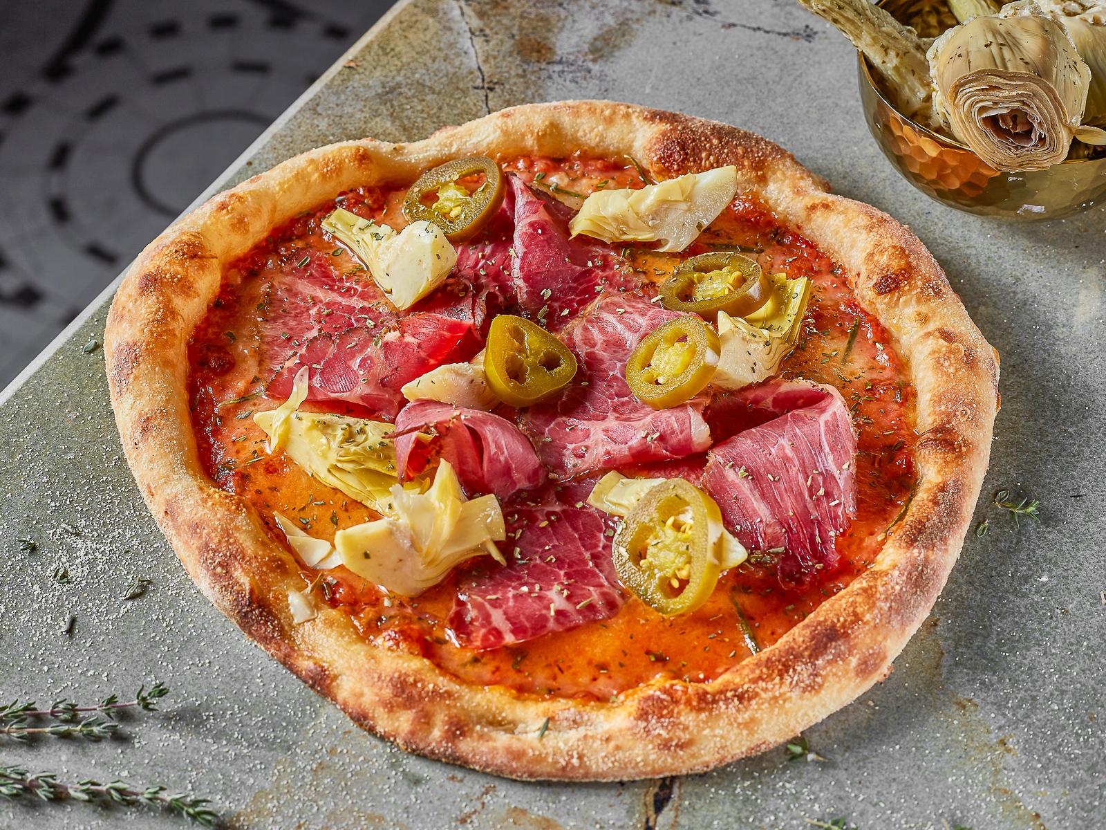Пицца Пастрами и артишоки