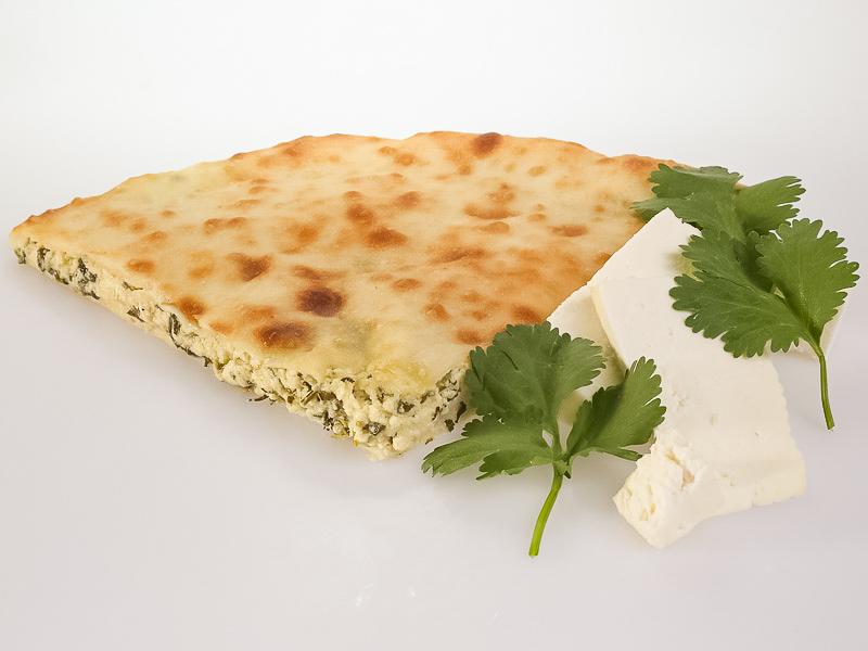 Пирог с сыром и кинзой