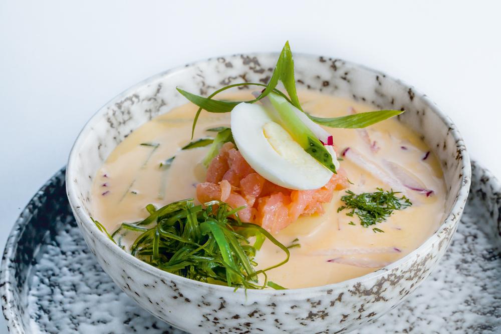 Тайский холодный суп Хуа-Хин с индейкой
