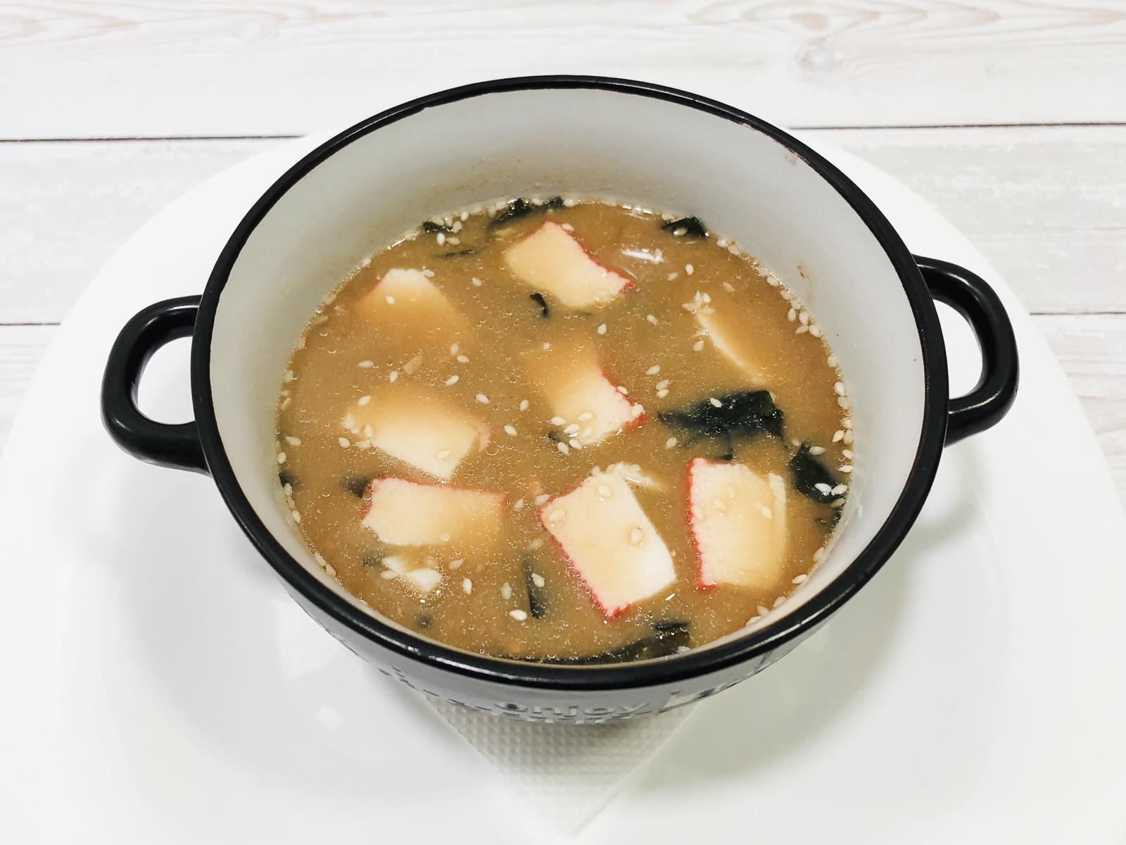 Мисо-суп с крабом