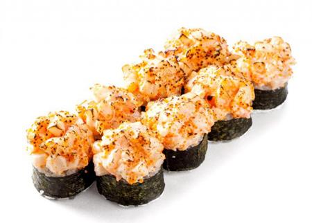 Запеченный с морепродуктами