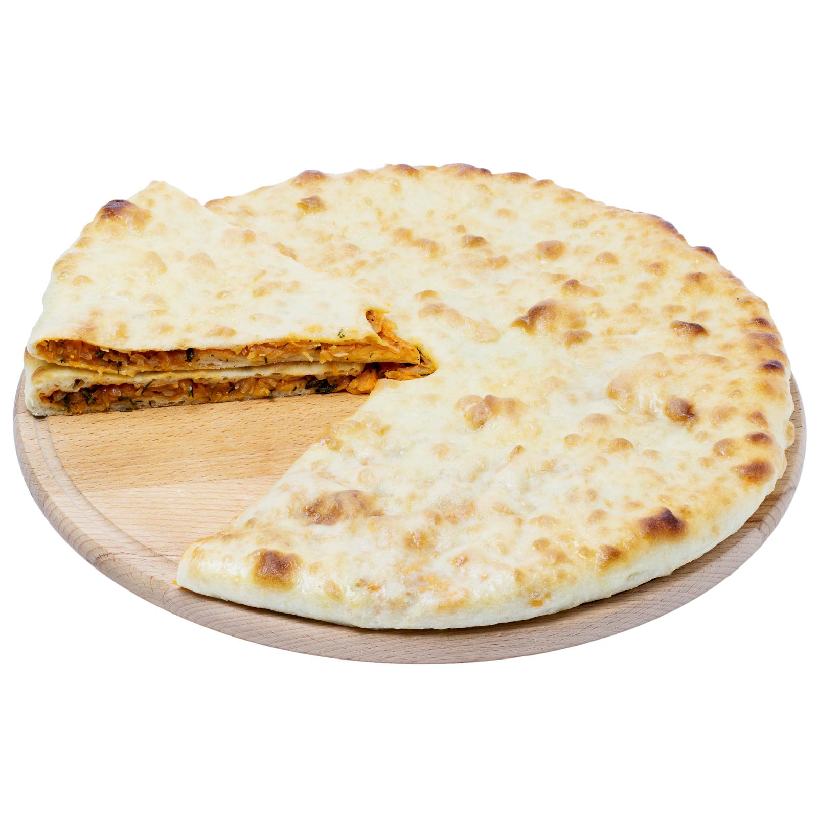 Красный осетинский пирог с капустой