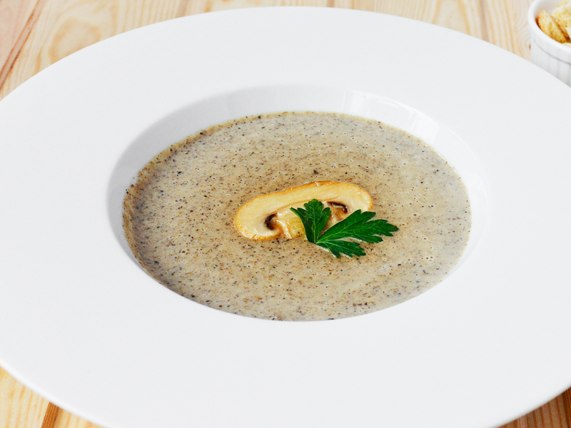 Крем-суп с белыми грибами