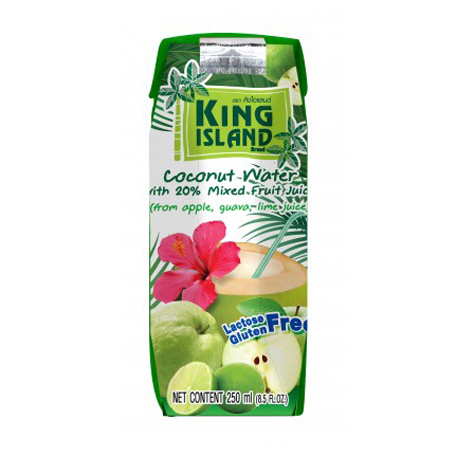 Кокосовая вода с гуавой, яблоком и лаймом