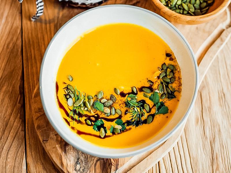 Тыквенный суп с треской