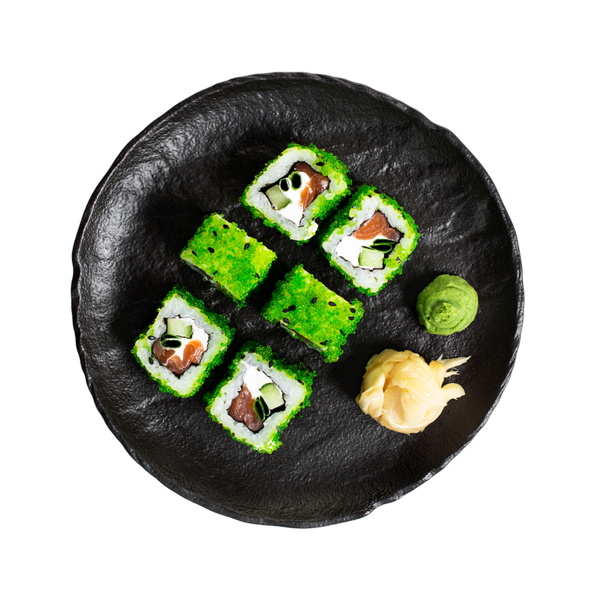 Ролл Азбука Вкуса с копченым лососем и творожным сыром