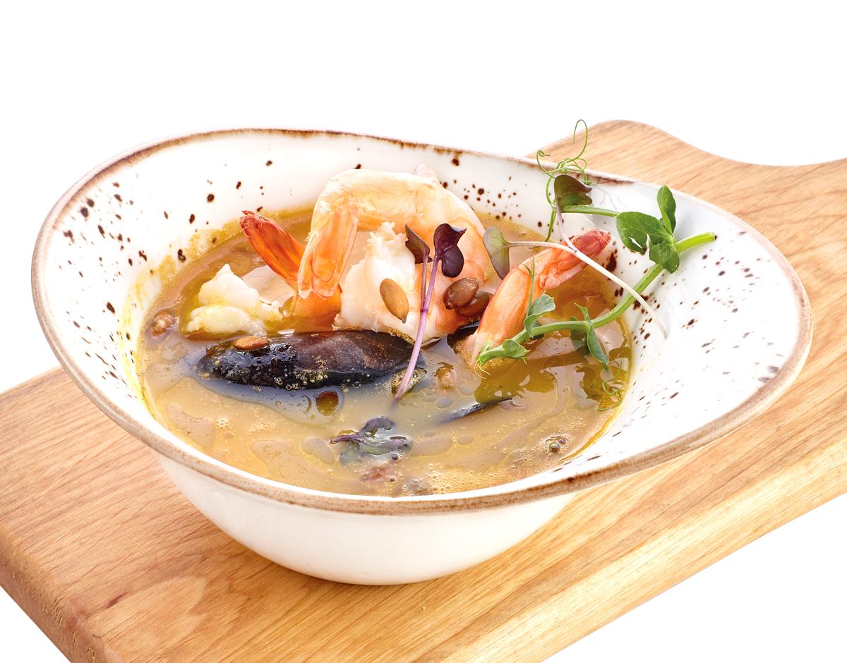 Суп из морепродуктов Каччукко