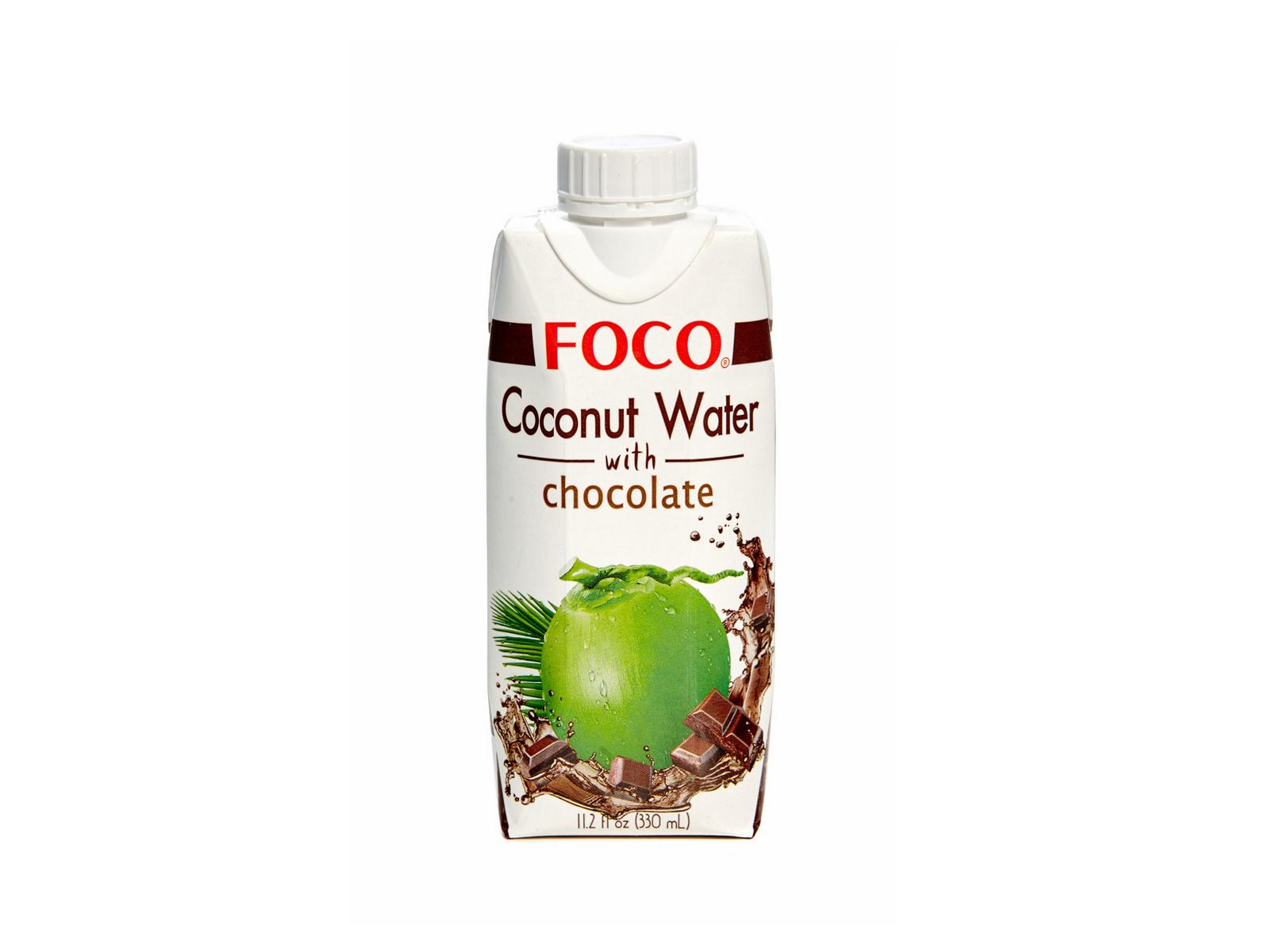 Натуральная кокосовая вода с шоколадом