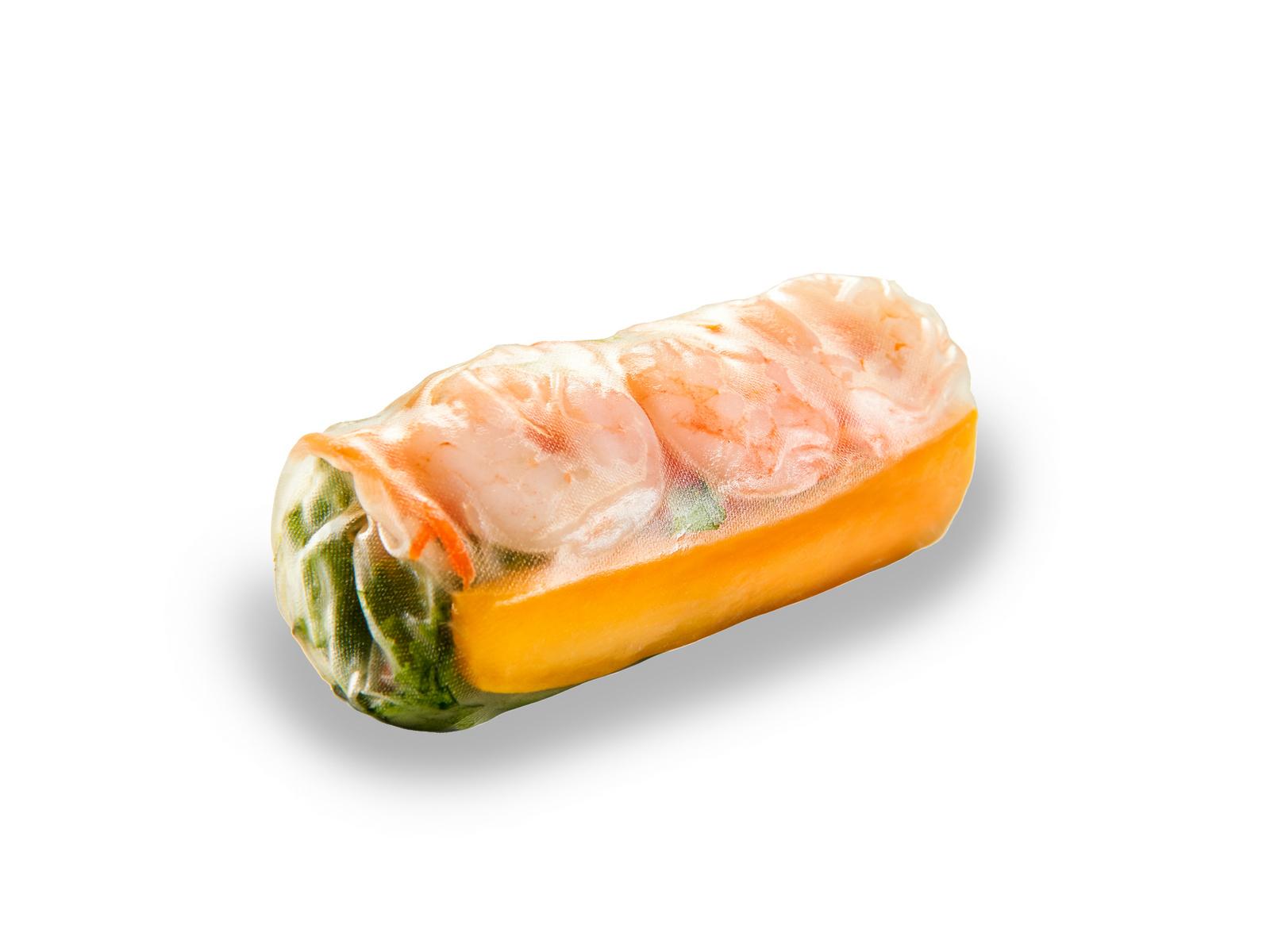 Гой куон с креветкой, мясом и манго