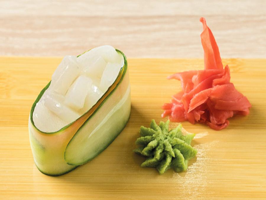 Каппа-суши с морским гребешком