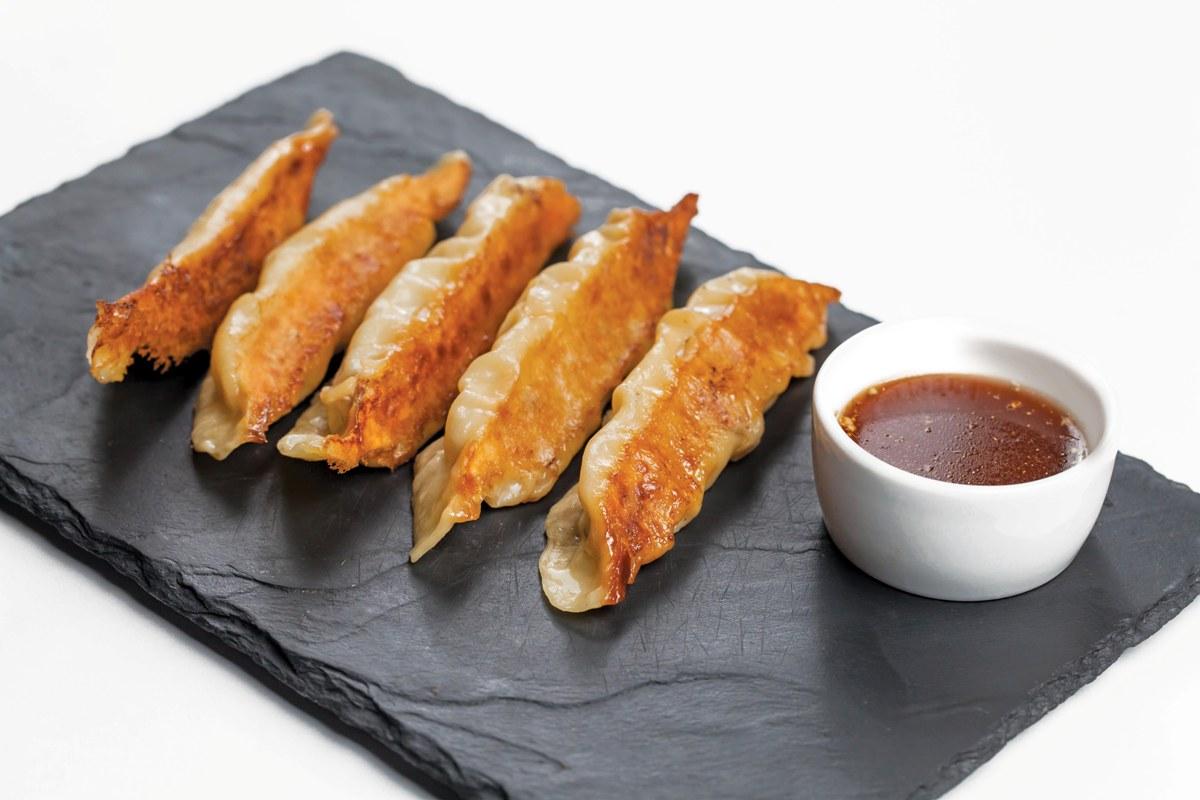 Шанхайские пельмени с тремя видами мяса
