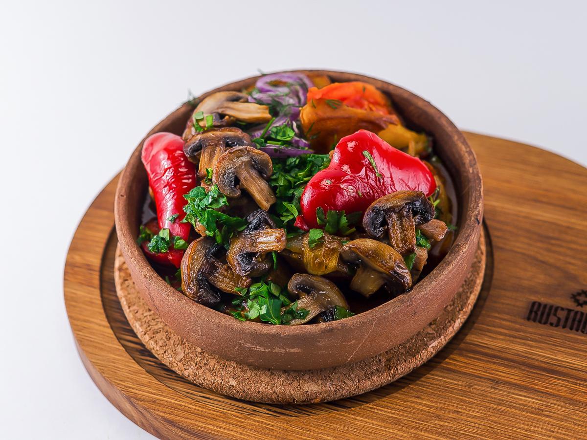 Оджахури с грибами