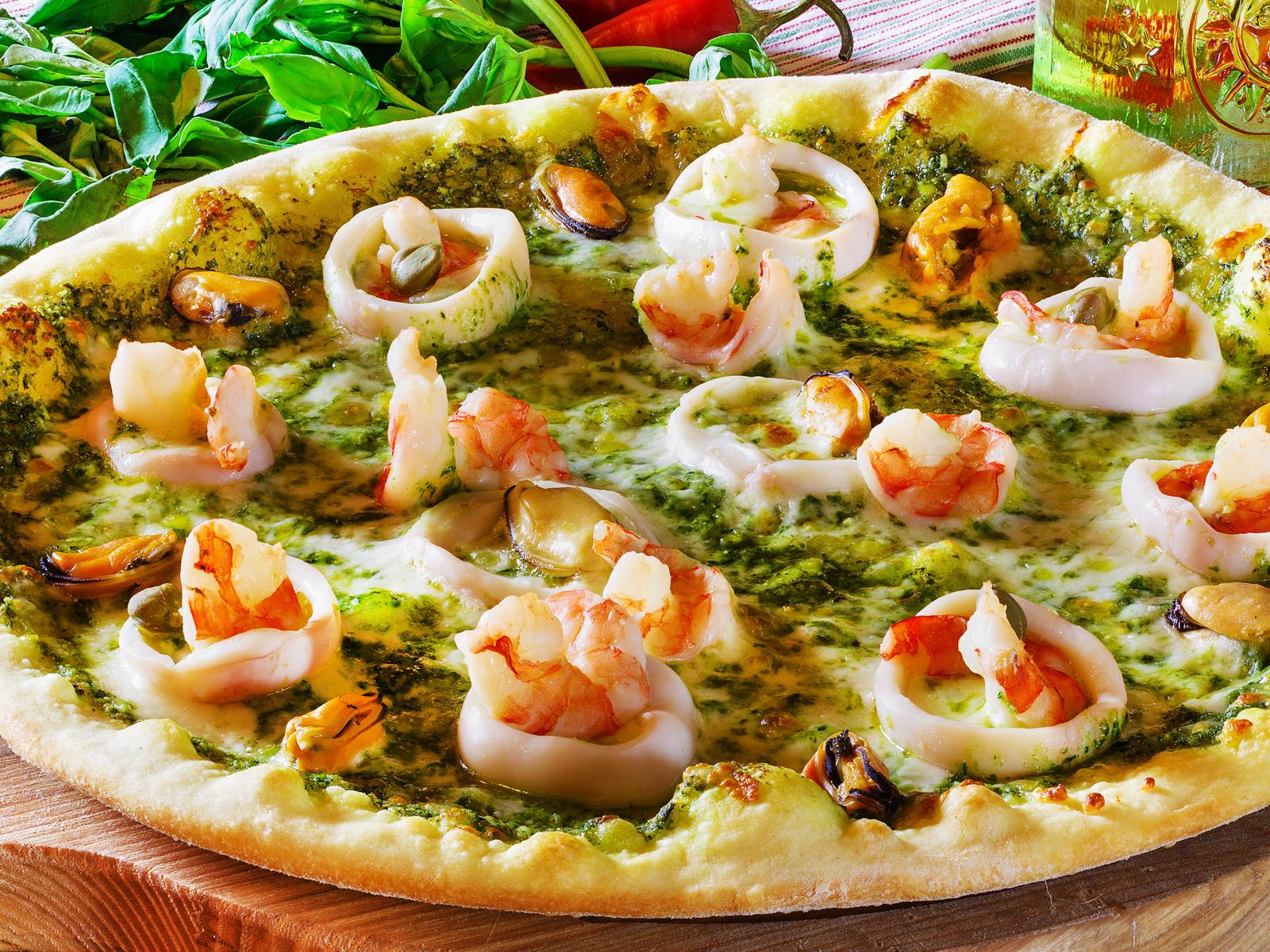 Пицца Фрутти ди Маре Песто