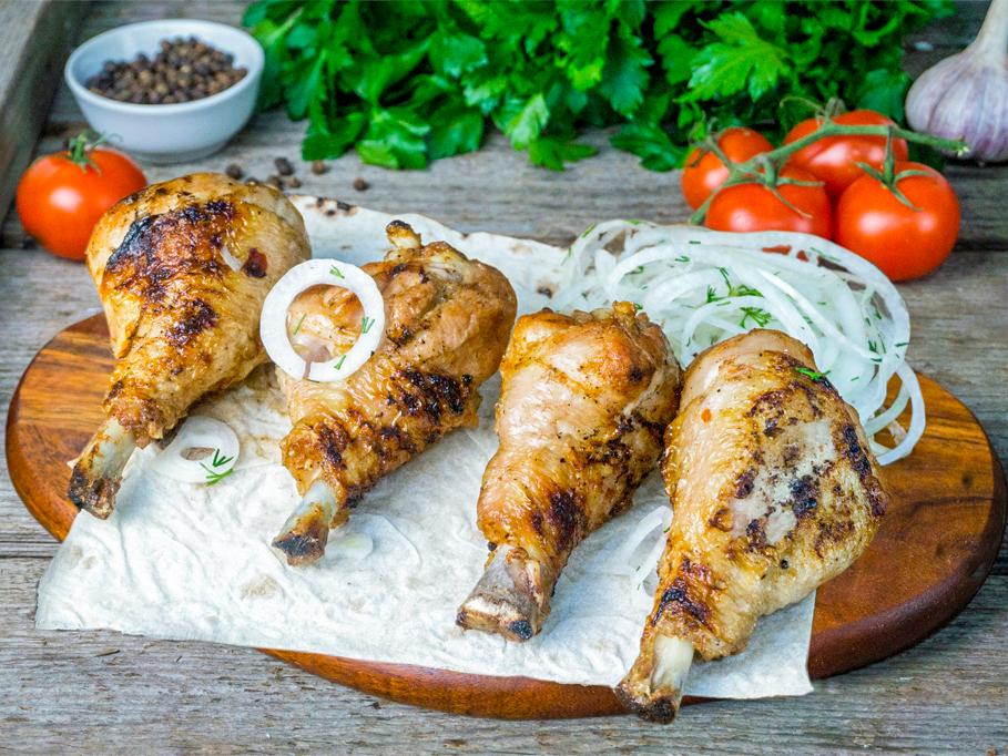 Шашлык из куриных голеней