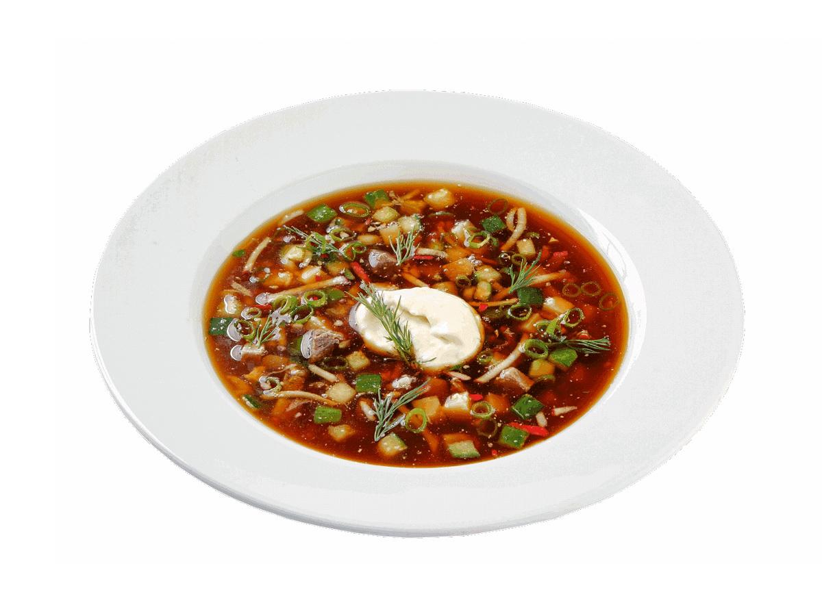 Суп Окрошка с квасом