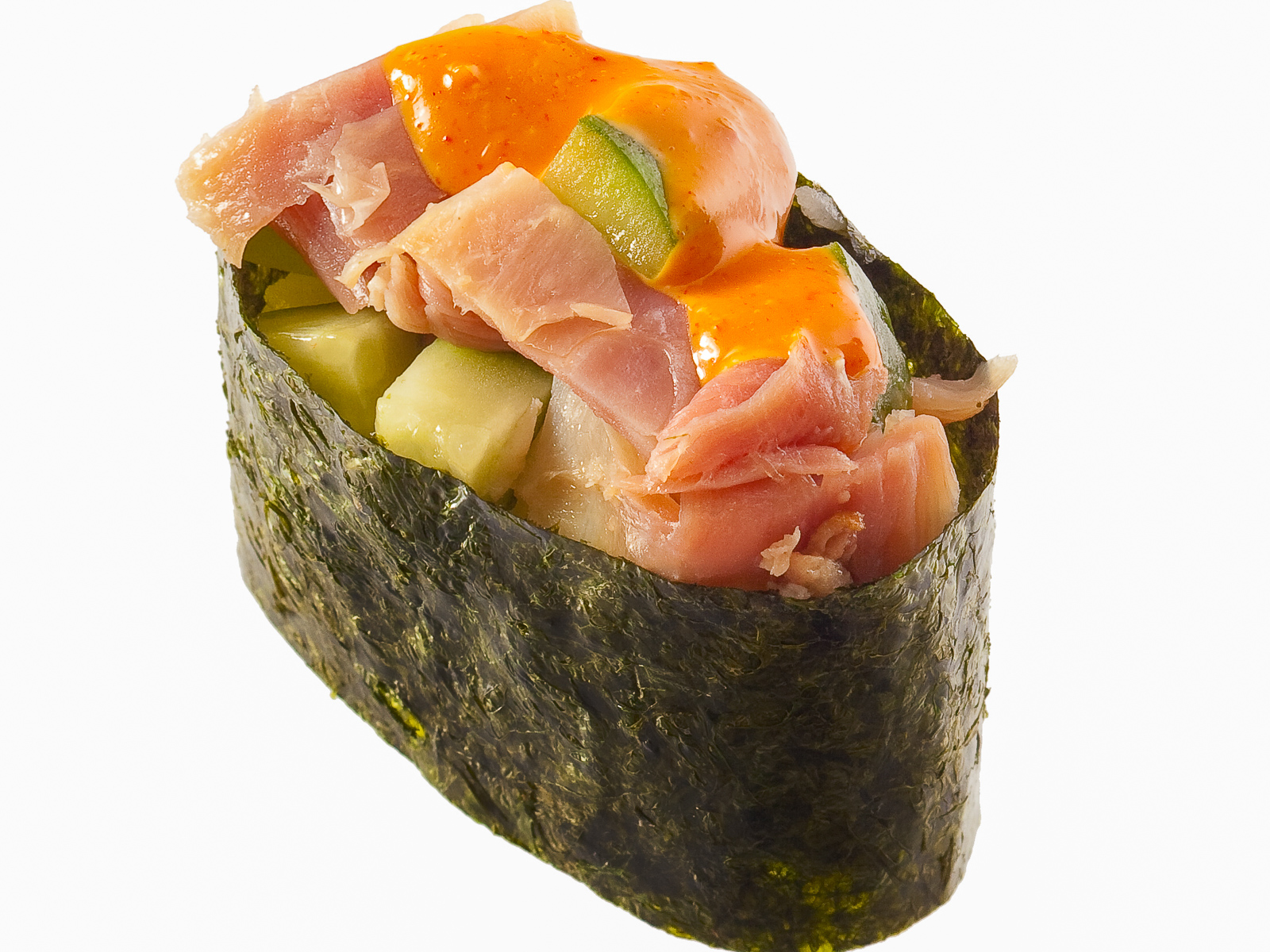 Спайс-суши с курицей и огурцами