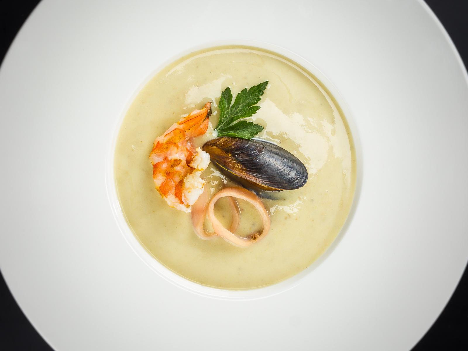 Крем-суп с морепродуктами
