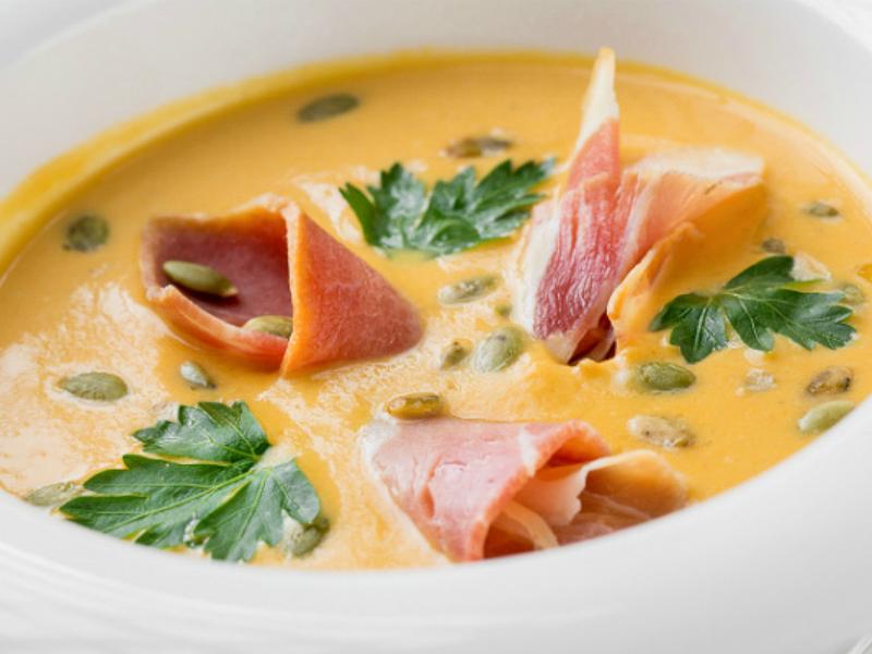 Крем-суп тыквенный с прошутто