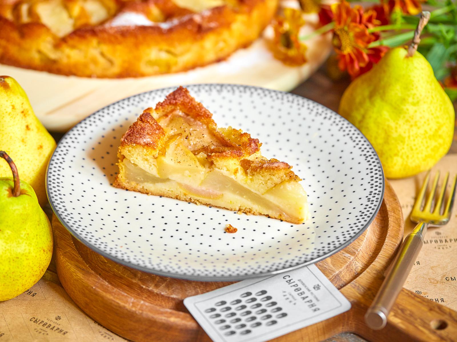 Домашний пирог с грушей