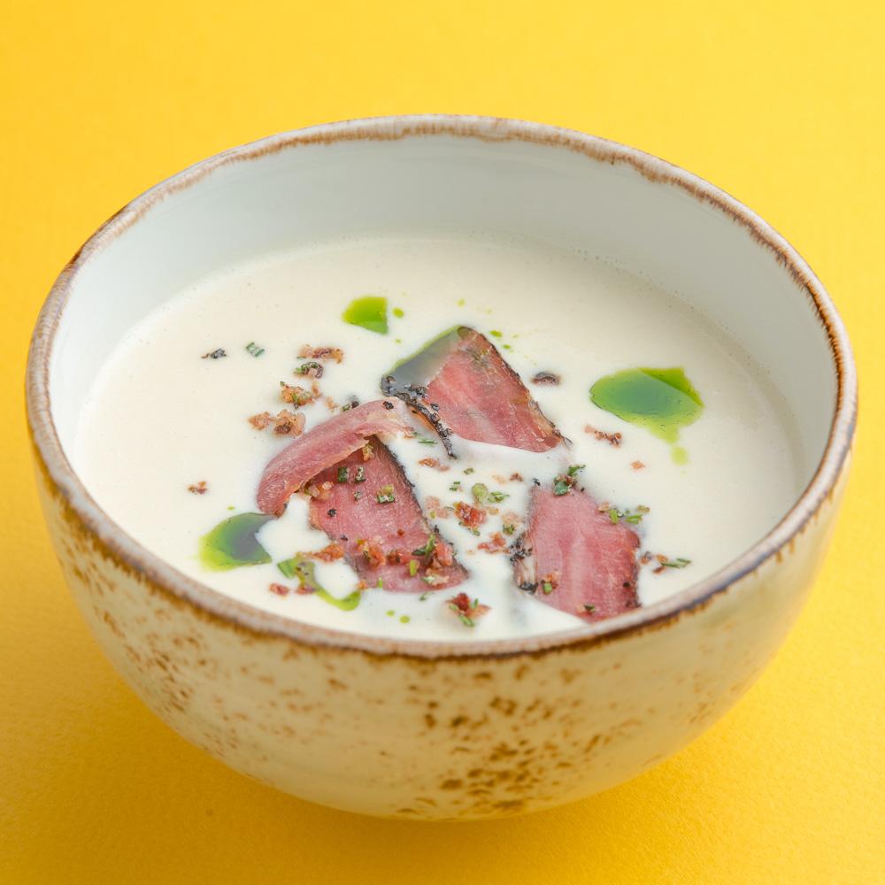 Сырный суп с брискетом