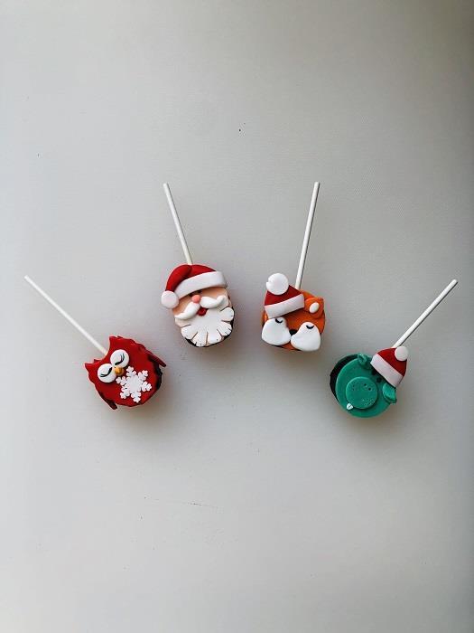 Кейк-попс Дед Мороз