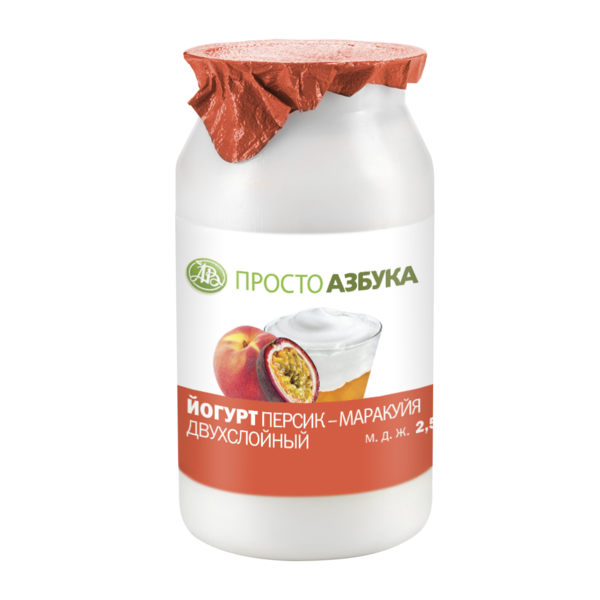 Йогурт в бидончике Персик-маракуйя 2.5%
