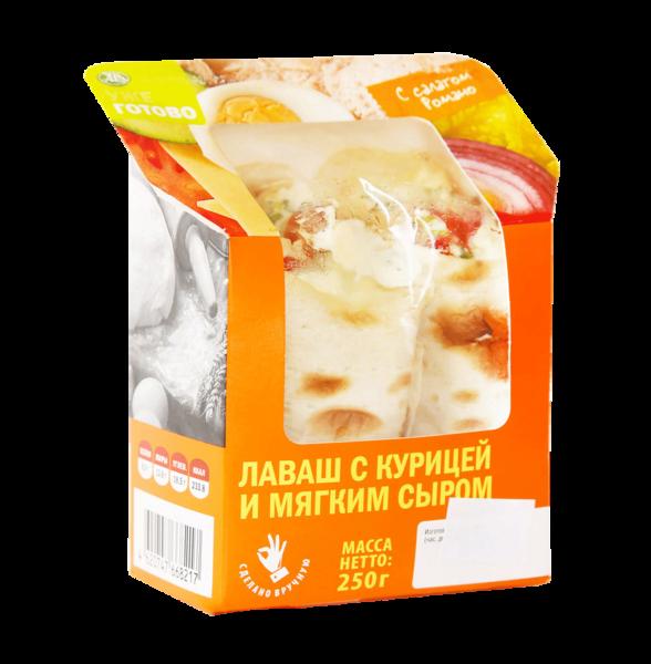 Лаваш с курицей и мягким сыром