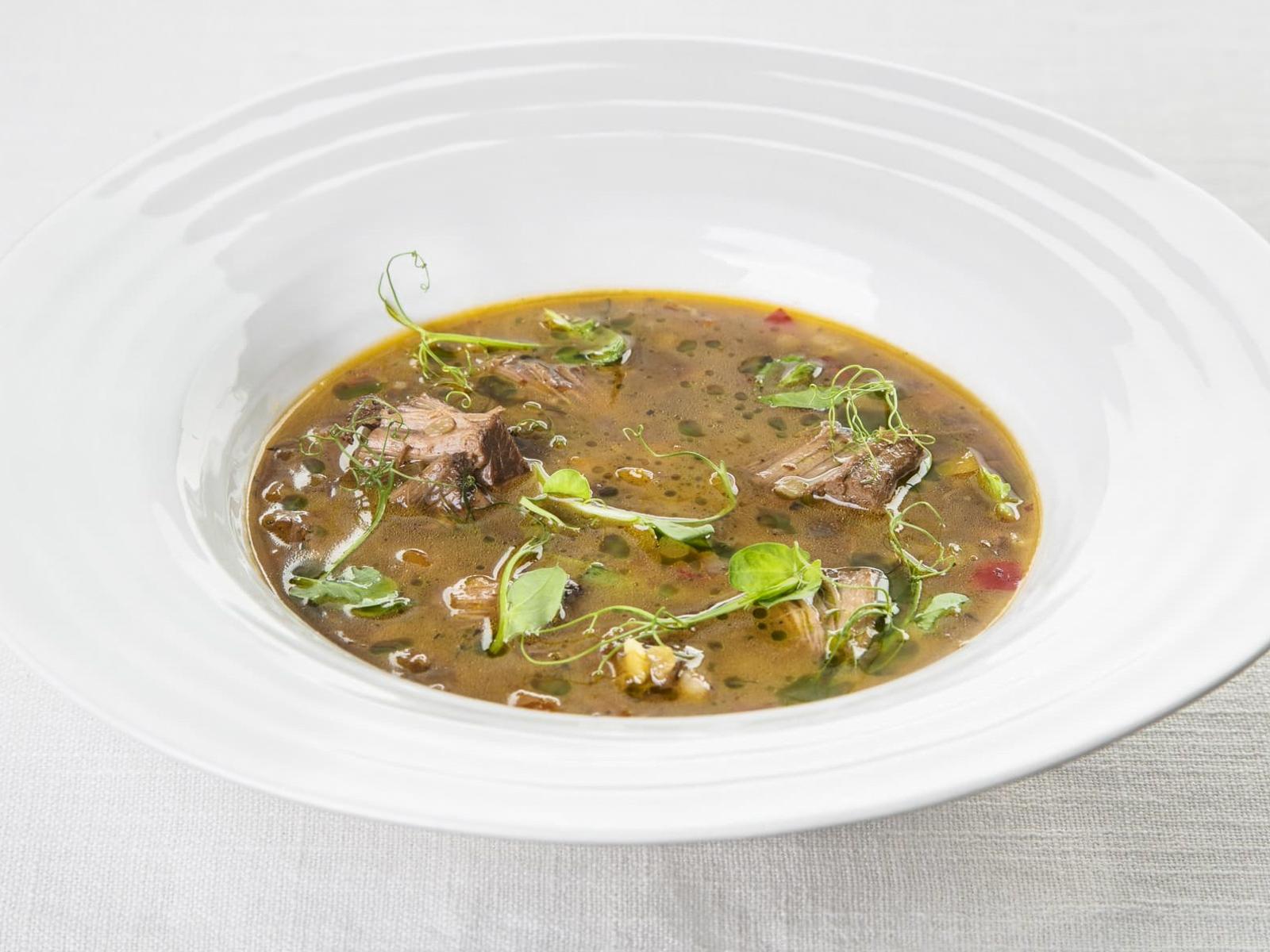 Пряный суп с бараниной