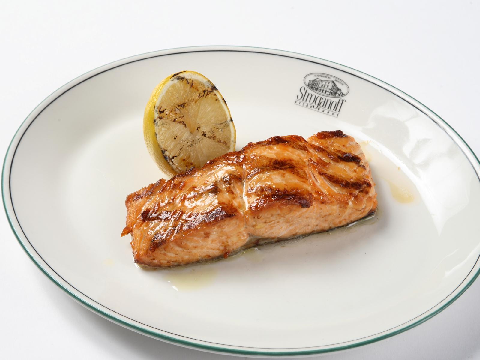 Стейк из атлантического лосося