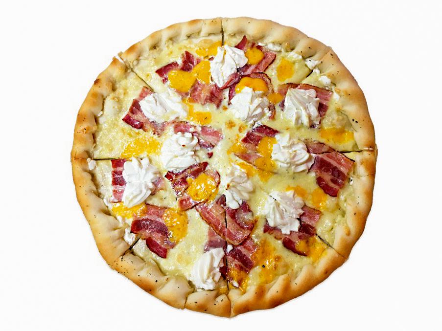 Пицца Четыре сыра и бекон