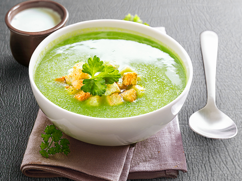 Крем-суп со шпинатом и сливками