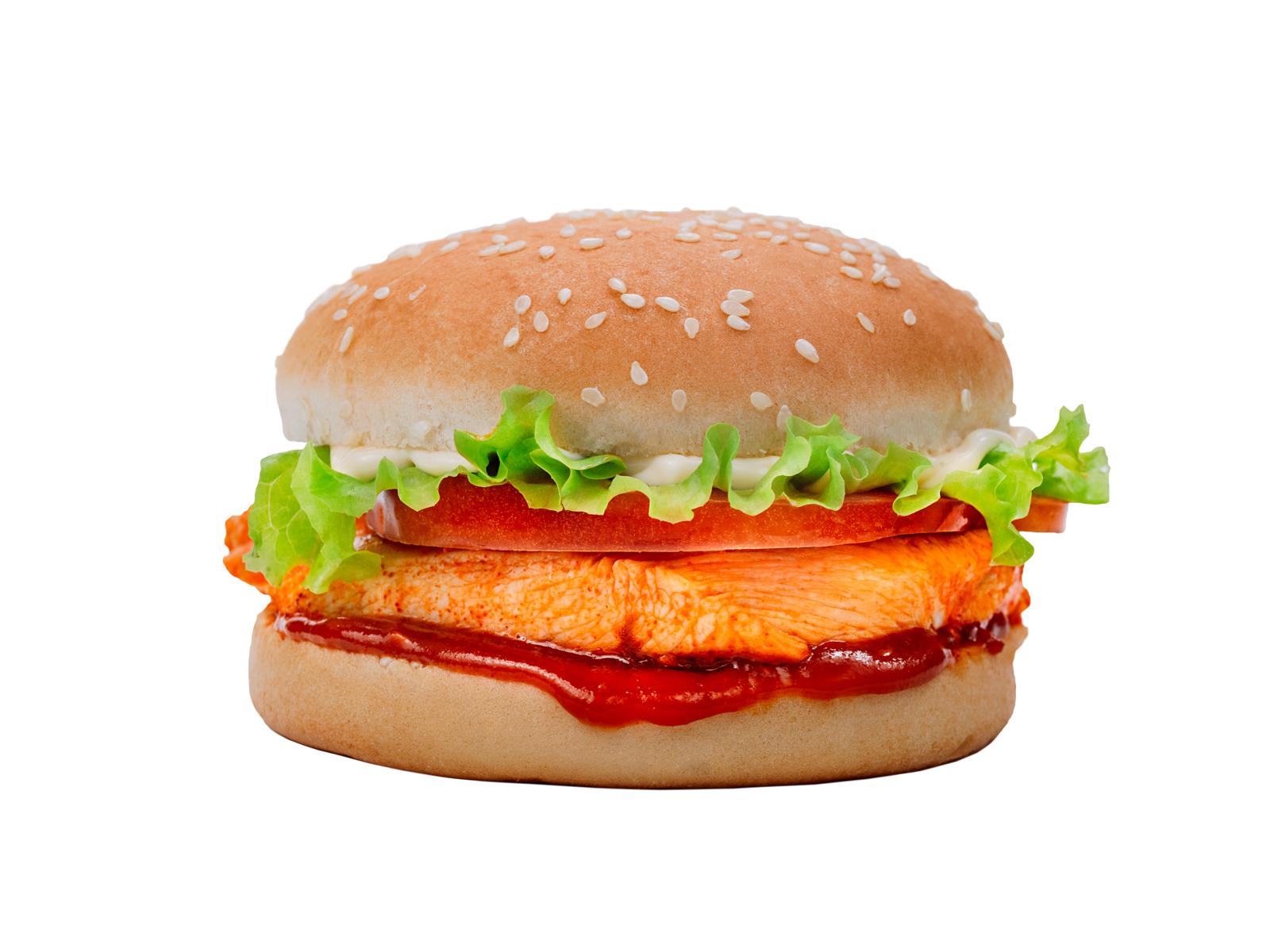 Бургер пири-пири острый