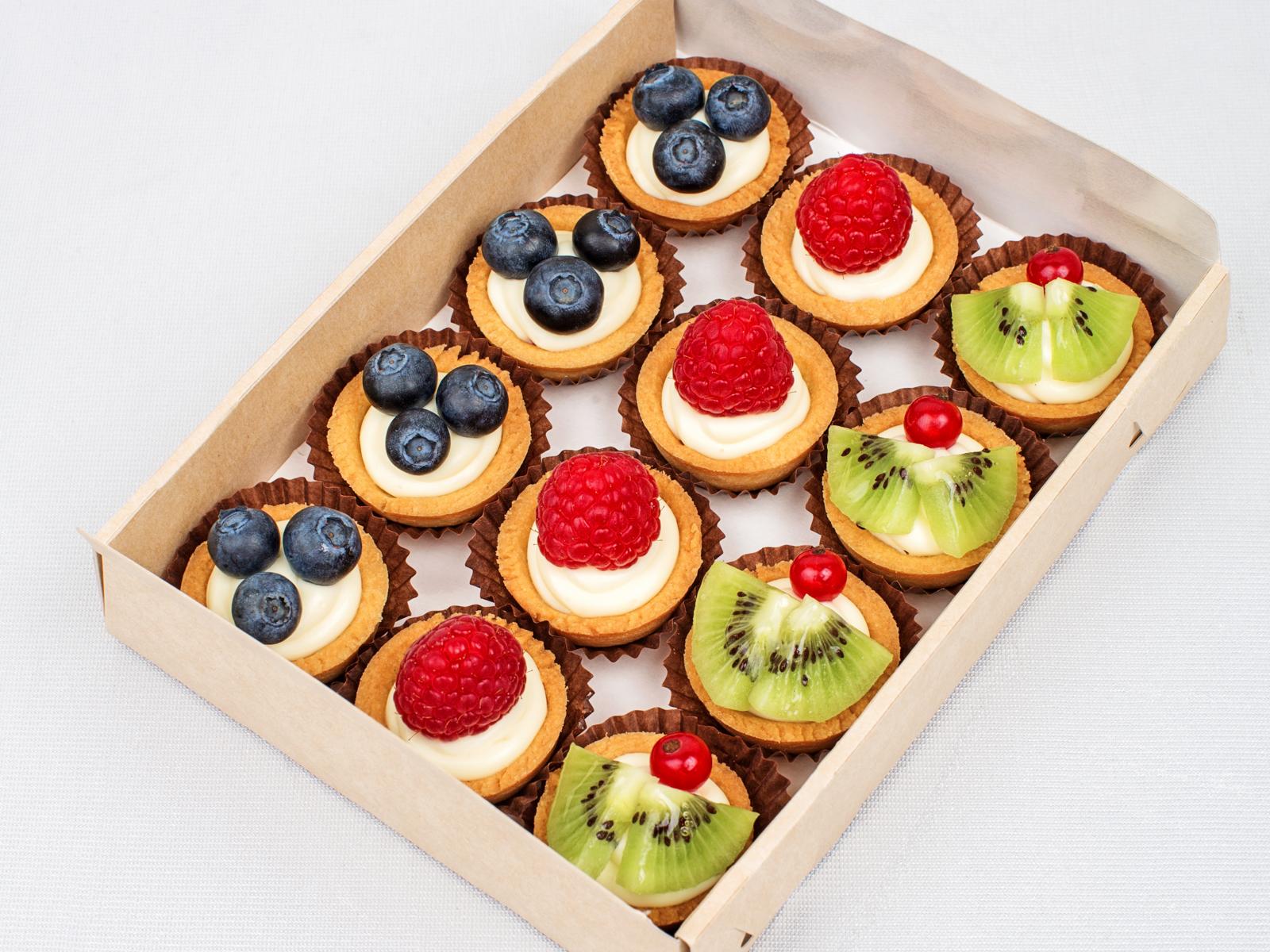 Тарталетки со свежими ягодами