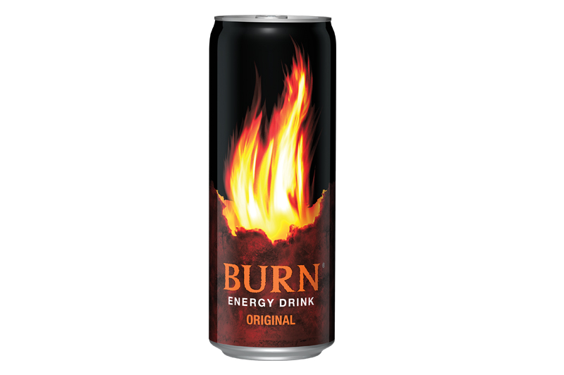 Energy drink burn