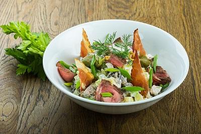 Салат Три мяса