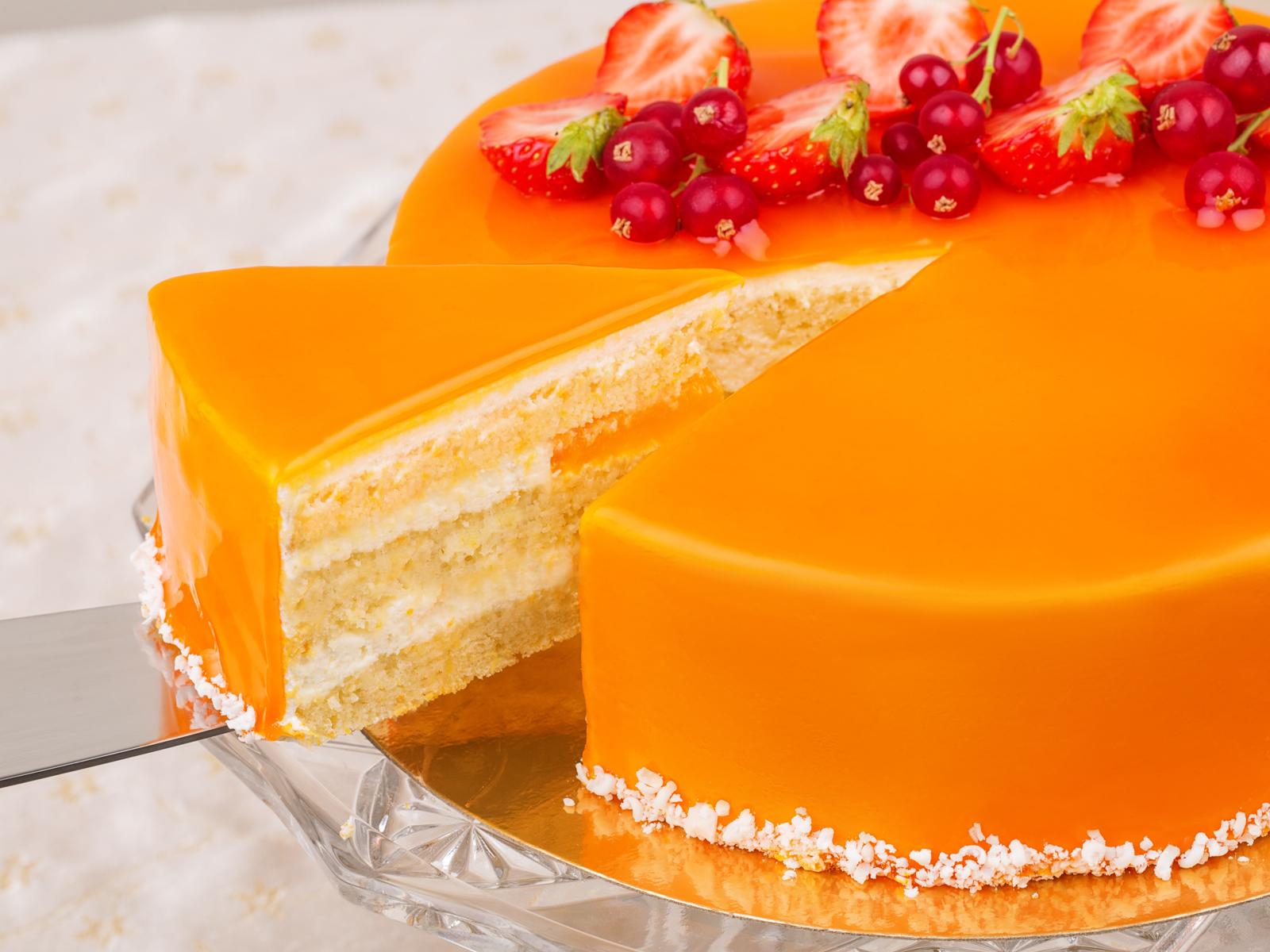 Торт Апельсин с белым шоколадом