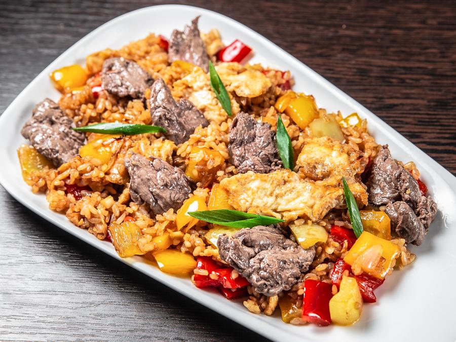 Теппаньяки рис с говядиной