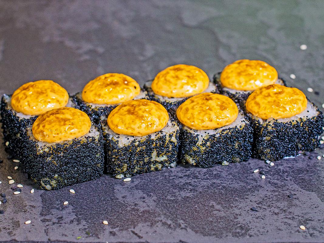 Ролл Запеченный Черный лосось