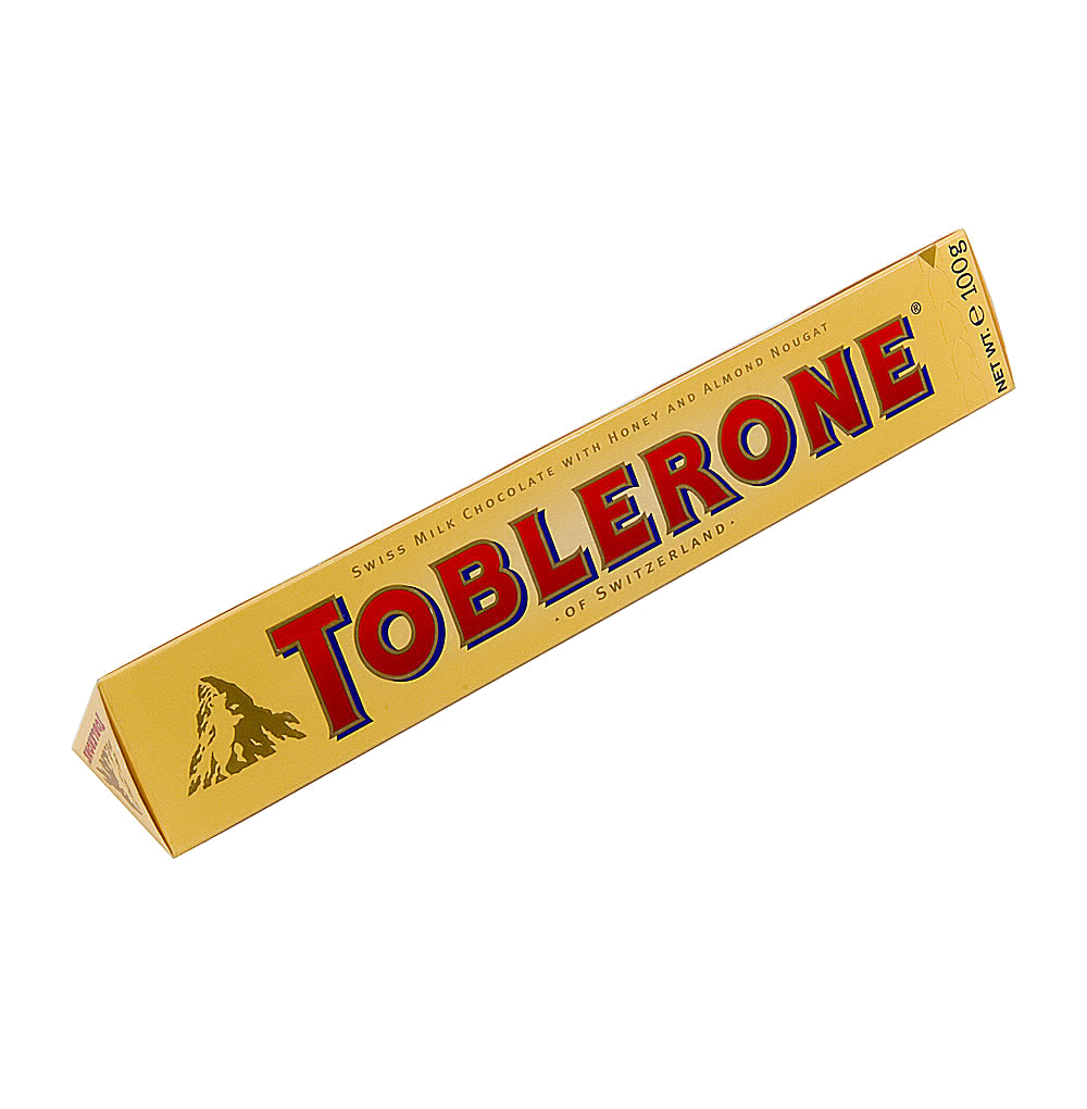 Шоколад Тоблерон молочный с медом и нугой Швейцария