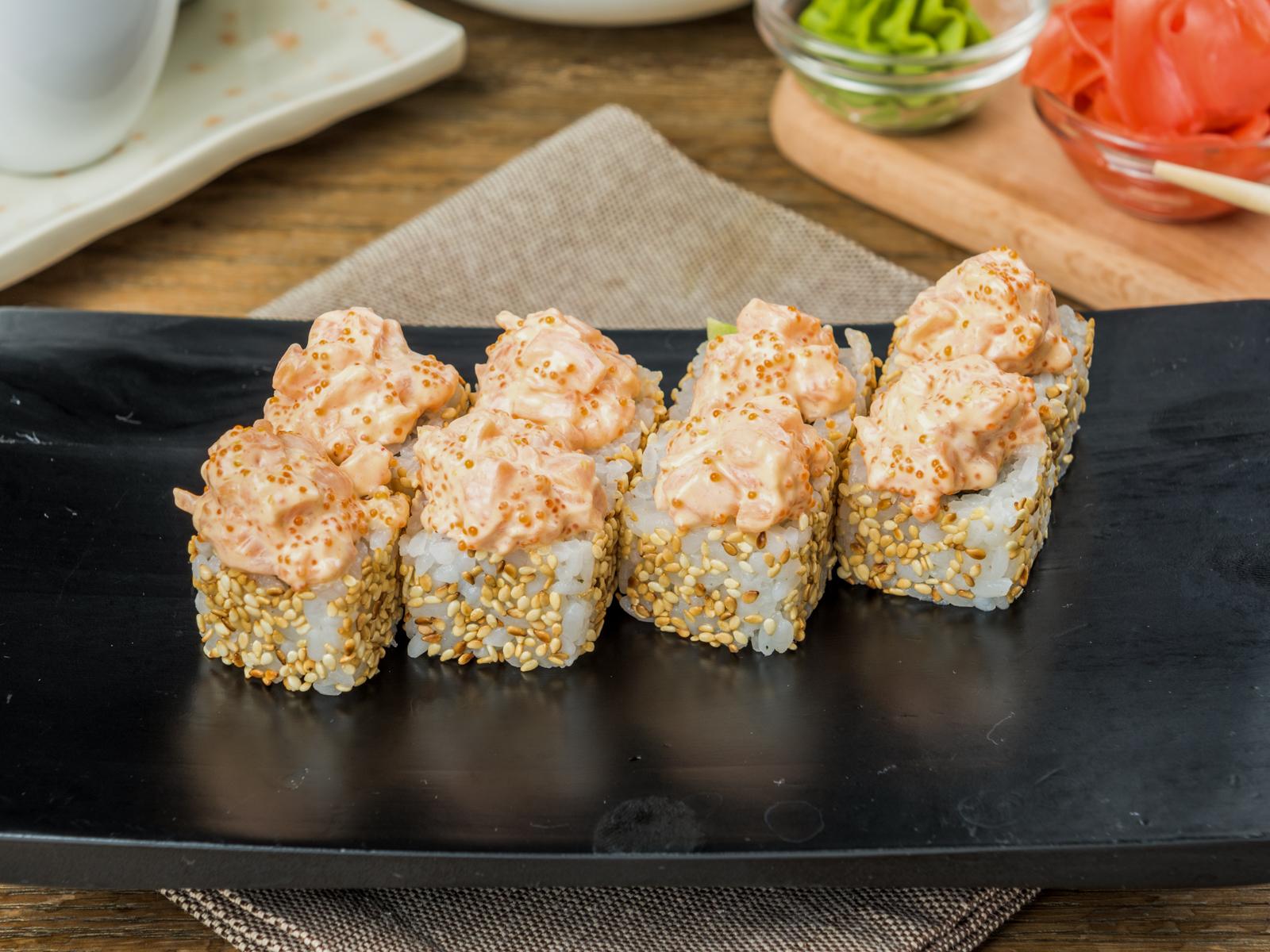 Ролл Спайс с лососем