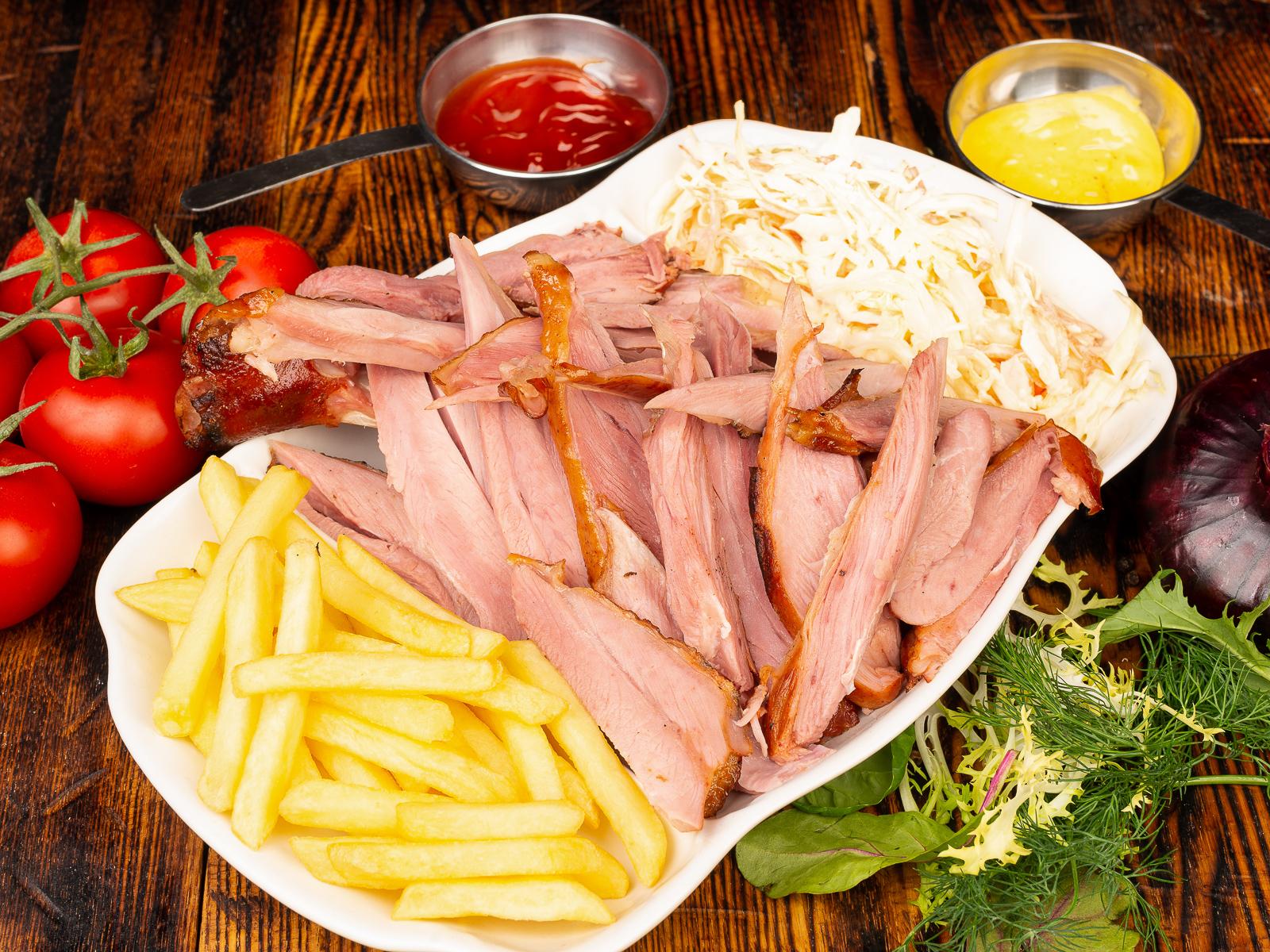 Комбо-обед с голенью индейки