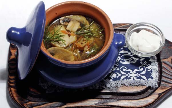 Душистый грибной суп