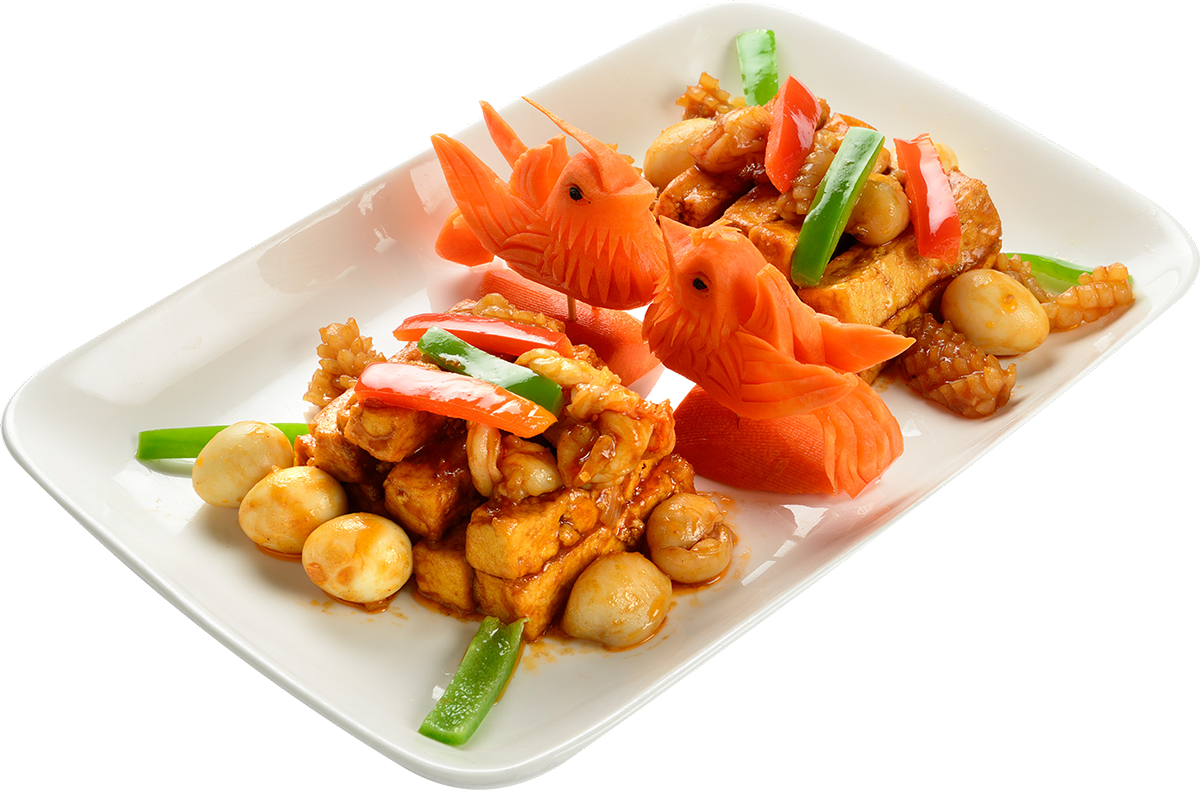 Тофу с морепродуктами
