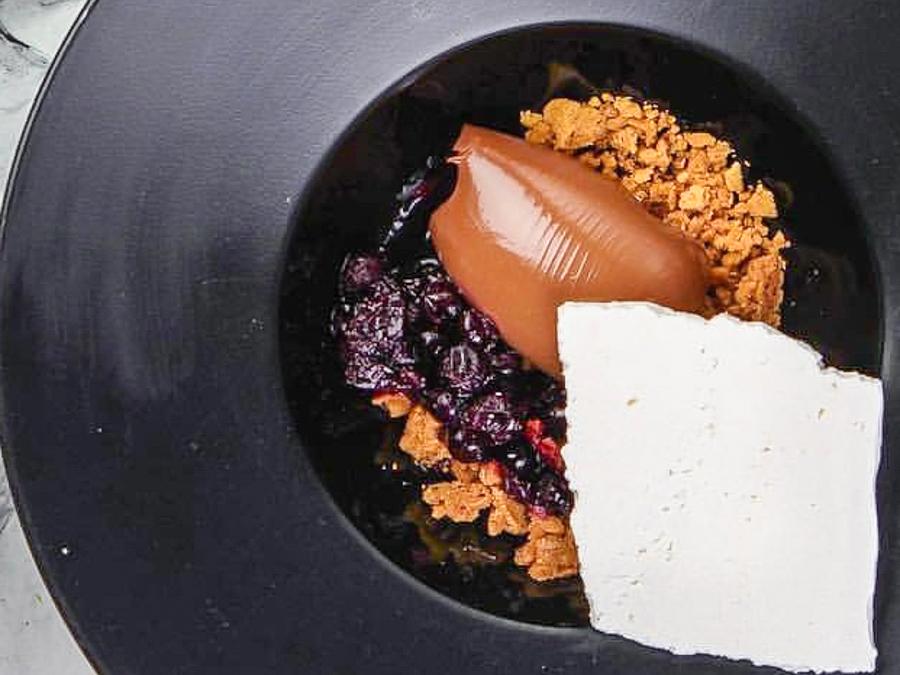 Шоколадный ганаш с ореховым печеньем