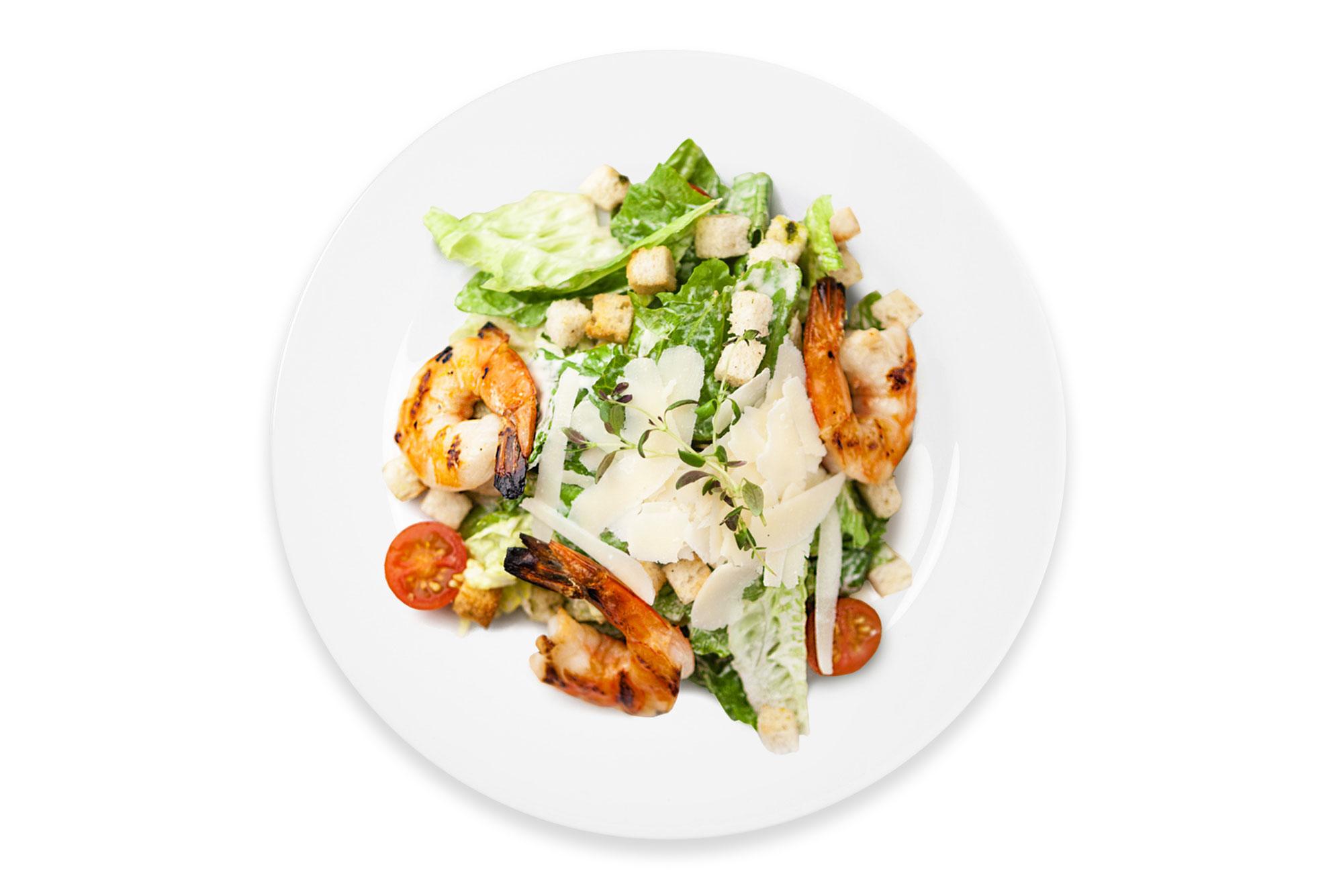 Салат цезарь с креветками Стандарт