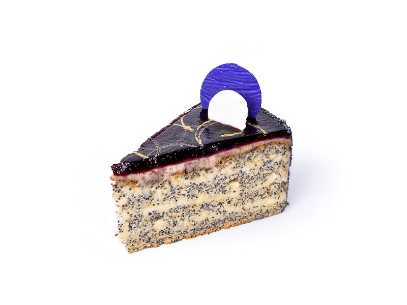 Торт Маково-черничный