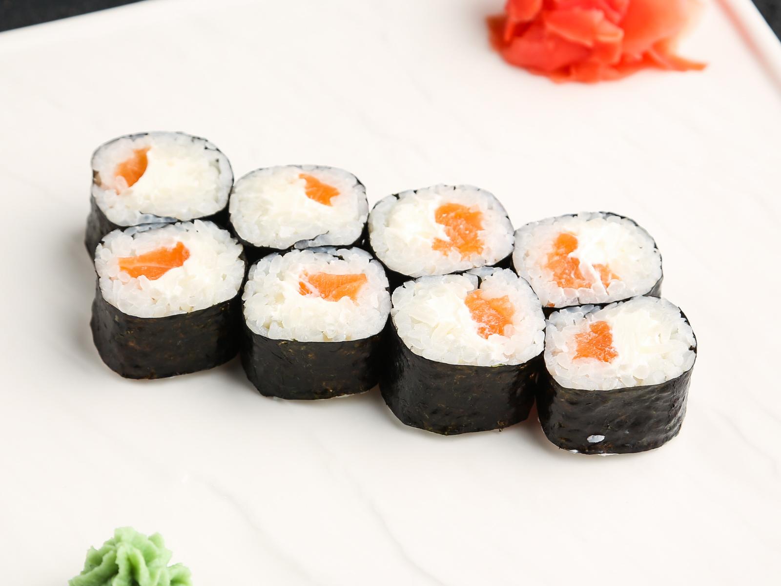 Симпл ролл с лососем и сливочным сыром
