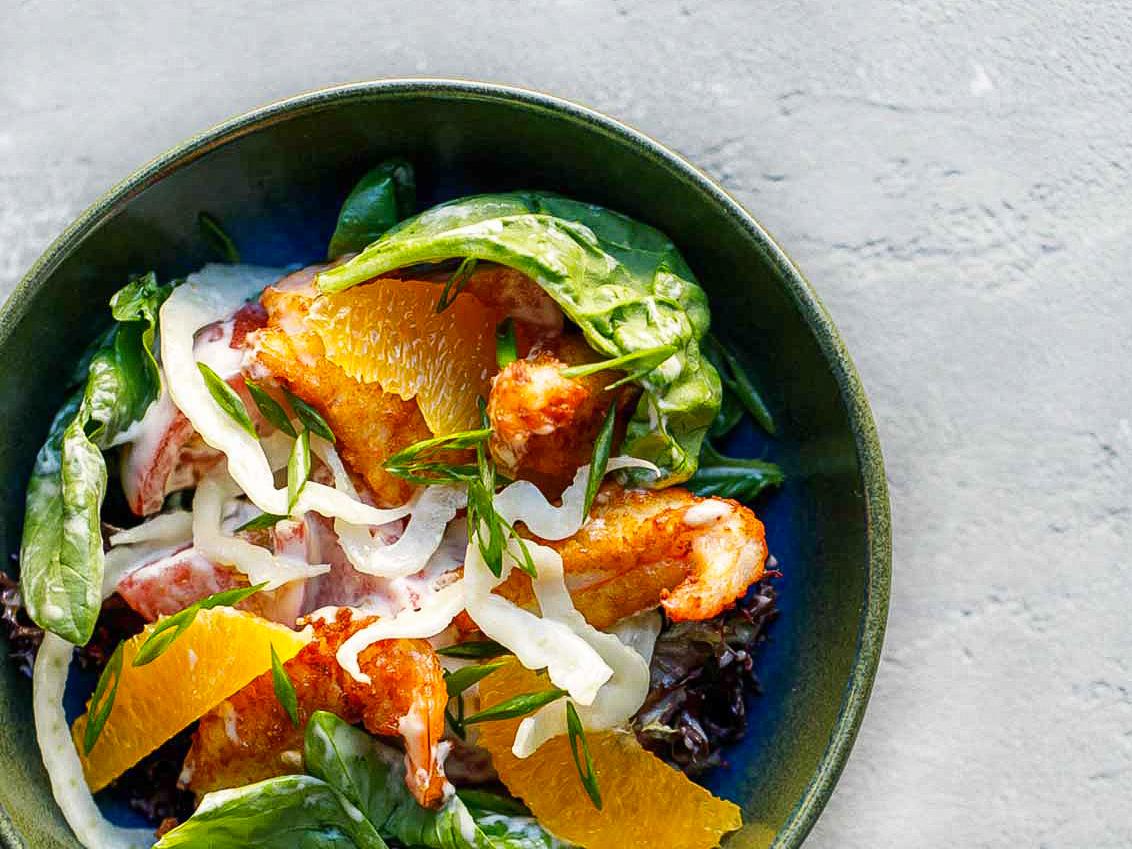 Салат с креветками по-сицилийски