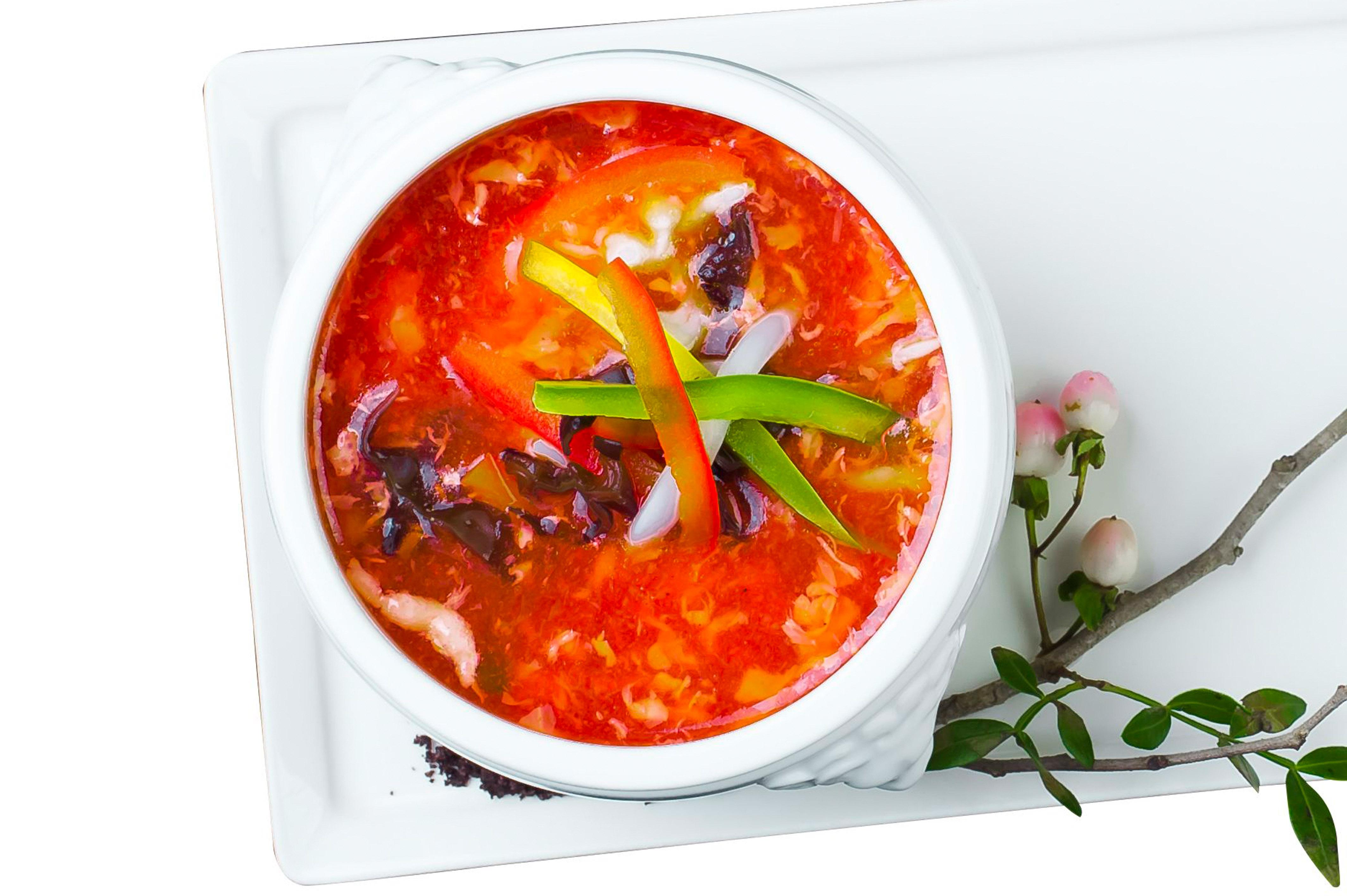 Кисло-острый суп по-сычуаньски