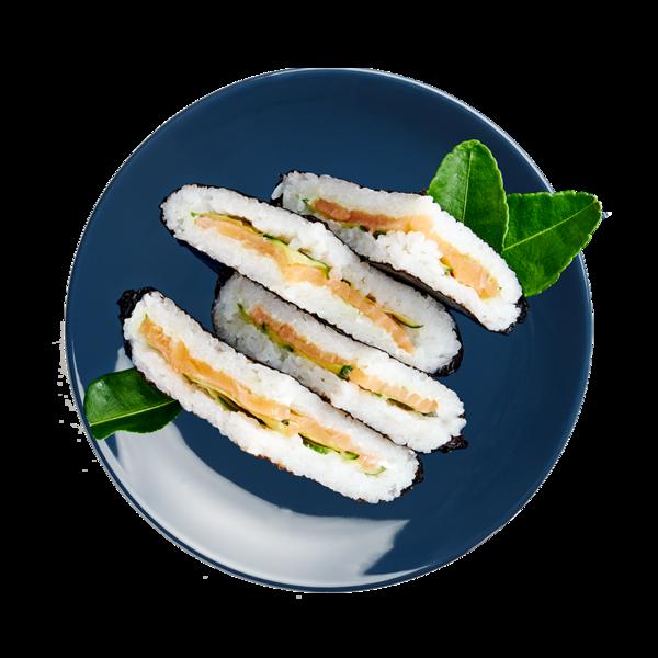 Суси сэндвич с лососем